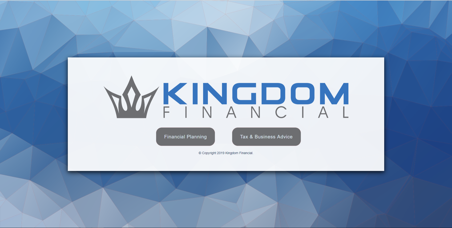 The image for Financial Planning Website example